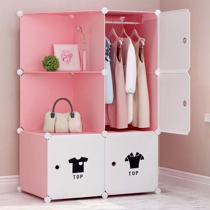 Tủ - Tủ nhựa ghép - Tủ đựng quần áo – 6 ô