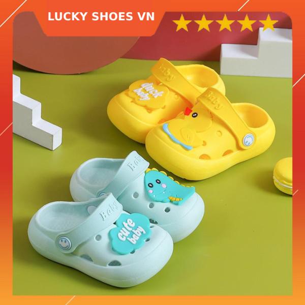 Giày dép trẻ em, dép cho bé trai và dép bé gái từ 1-6 tuổi, giày dép trẻ em hình thú ngộ nghĩnh đi siêu êm LUCKY SHOES VN - H000006