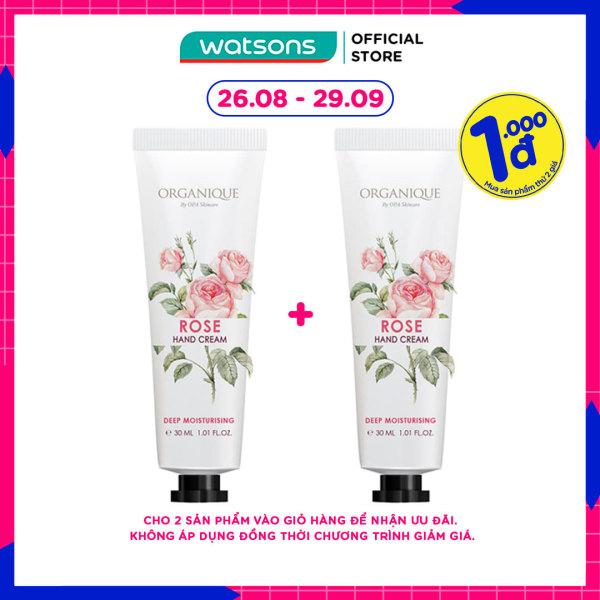 [1000đ SẢN PHẨM THỨ 2] Kem Dưỡng Tay Organique Hoa Hồng Rose Hand Cream 30ml