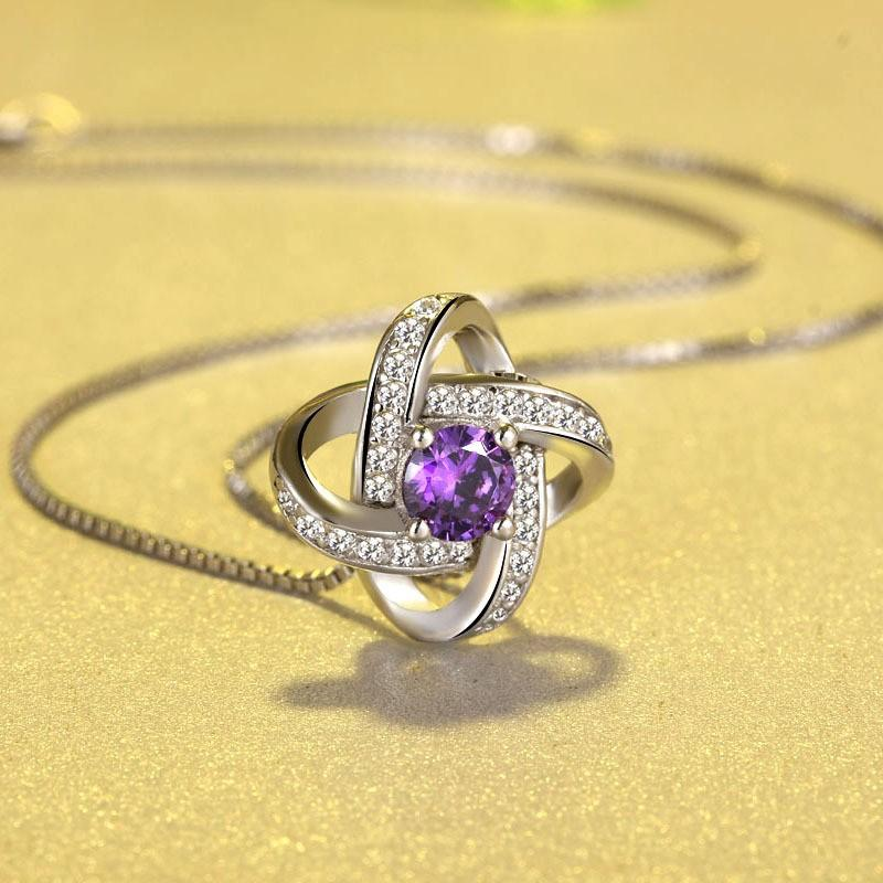 Dây chuyền nữ Hoa mặt trời bạc 925 nạm đá zircon tinh tế dây chuyền bạc Ý bạc trang sức vòng cổ nữ MDL-DC77