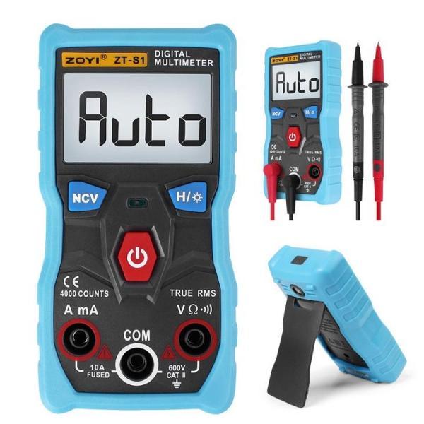 Đồng hồ vạn năng kỹ thuật số, đồng hồ đo điện AC-DC Digital multimeter ZOYI ZT-S1 Có đèn nền LCD, có đèn LED -ABG shop