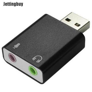 Jettingbuy 7.1 Thẻ Âm Thanh USB Bộ Chuyển Đổi Bên Ngoài Thẻ Âm Thanh 3.5Mm 3d Âm Thanh Nổi Máy Tính Xách Tay thumbnail