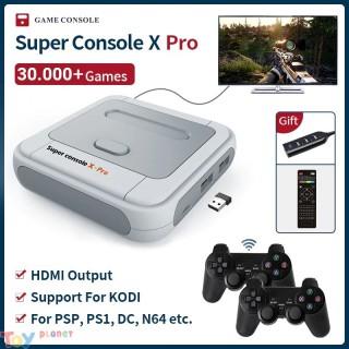 Máy chơi game điện tử 4 nút Super Console X-Tích hợp 33.000+ trò chơi , Game box TV HDMI AV - Máy chơi game không dây trên tivi Console X Pro cho PSP N64 DC NDS PS1 thumbnail