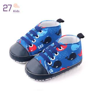 Giày Trẻ Em 27, Giày Trẻ Tập Đi In Đế Mềm Bằng Vải Bố Cho Bé 0-1 Tuổi
