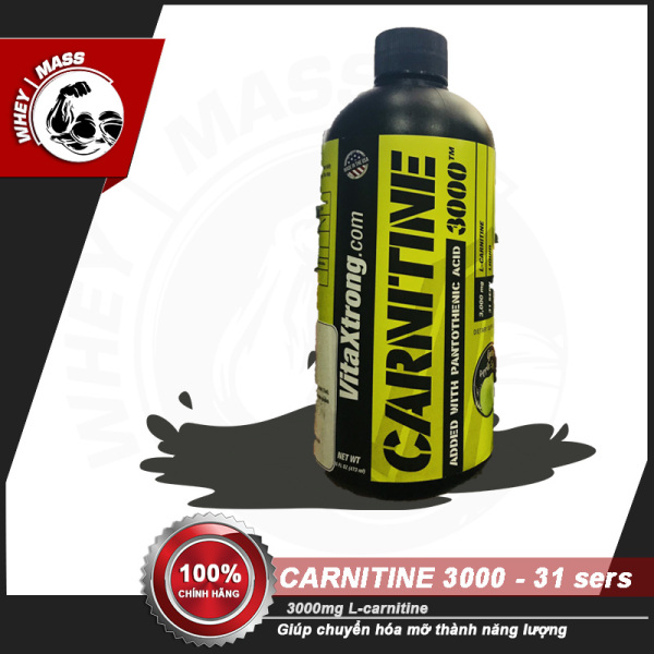 Thực Phẩm Bổ Sung Hỗ Trợ Đốt Mỡ Vitaxtrong Carnitine 3000Mg 31 Lần Dùng giá rẻ