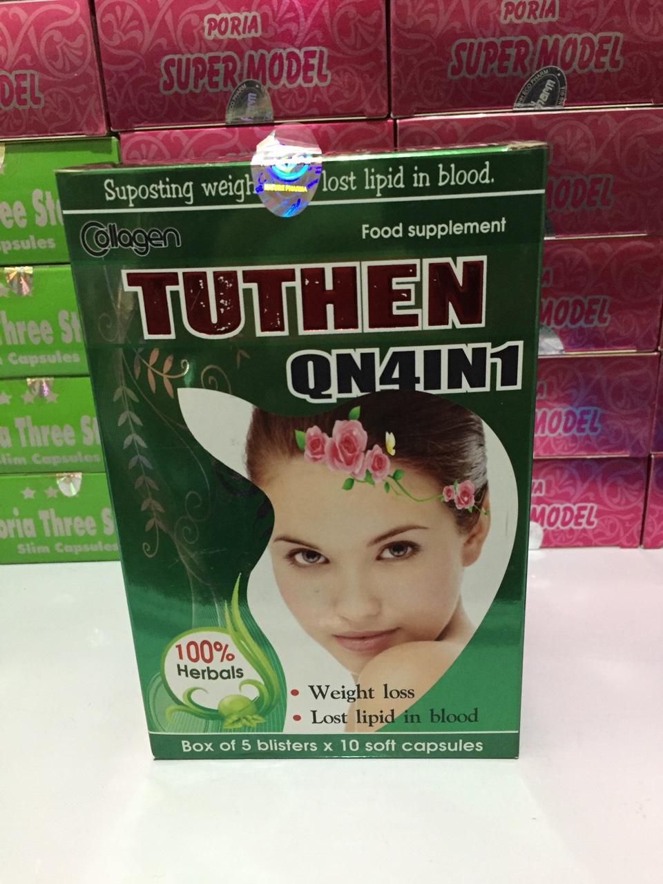 Viên uống giảm cân Collagen Tuthen QN4IN1 - Hộp 50 viên cao cấp