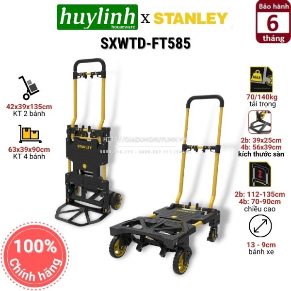 Xe đẩy hàng đa năng 2 và 4 bánh Stanley SXWTD-FT585 (70/140kg)