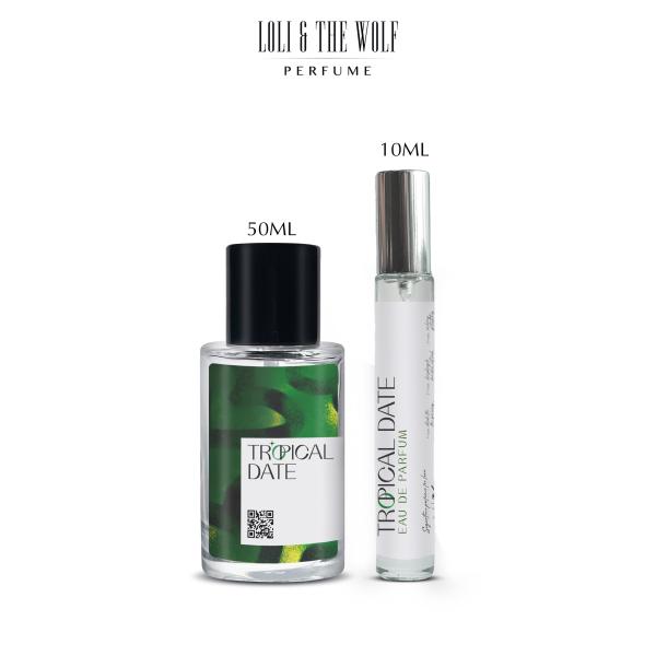 Nước hoa Unisex Tropical Date Eau De Parfum dành cho nam và nữ, chai 10ml, 50ml - LOLI & THE WOLF cao cấp