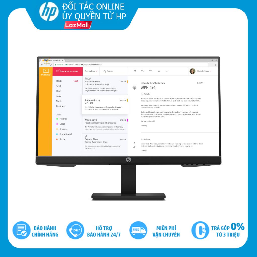 TRẢ GÓP 0% Màn hình máy tính HP LED P24H 23.8-inch 7VH44AA Hàng chính hãng