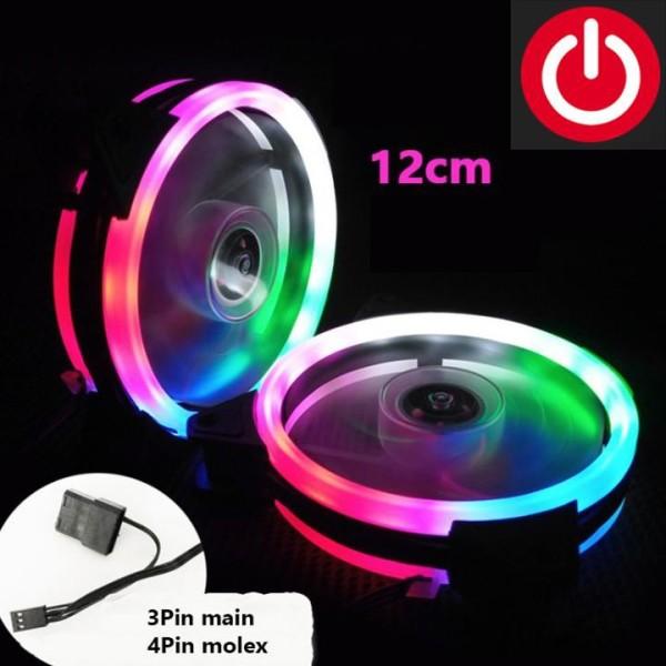Quạt tản nhiệt, fan led,Fan Case 12cm Coolmoon 2 Vòng Riing-Led Nhiều Màu