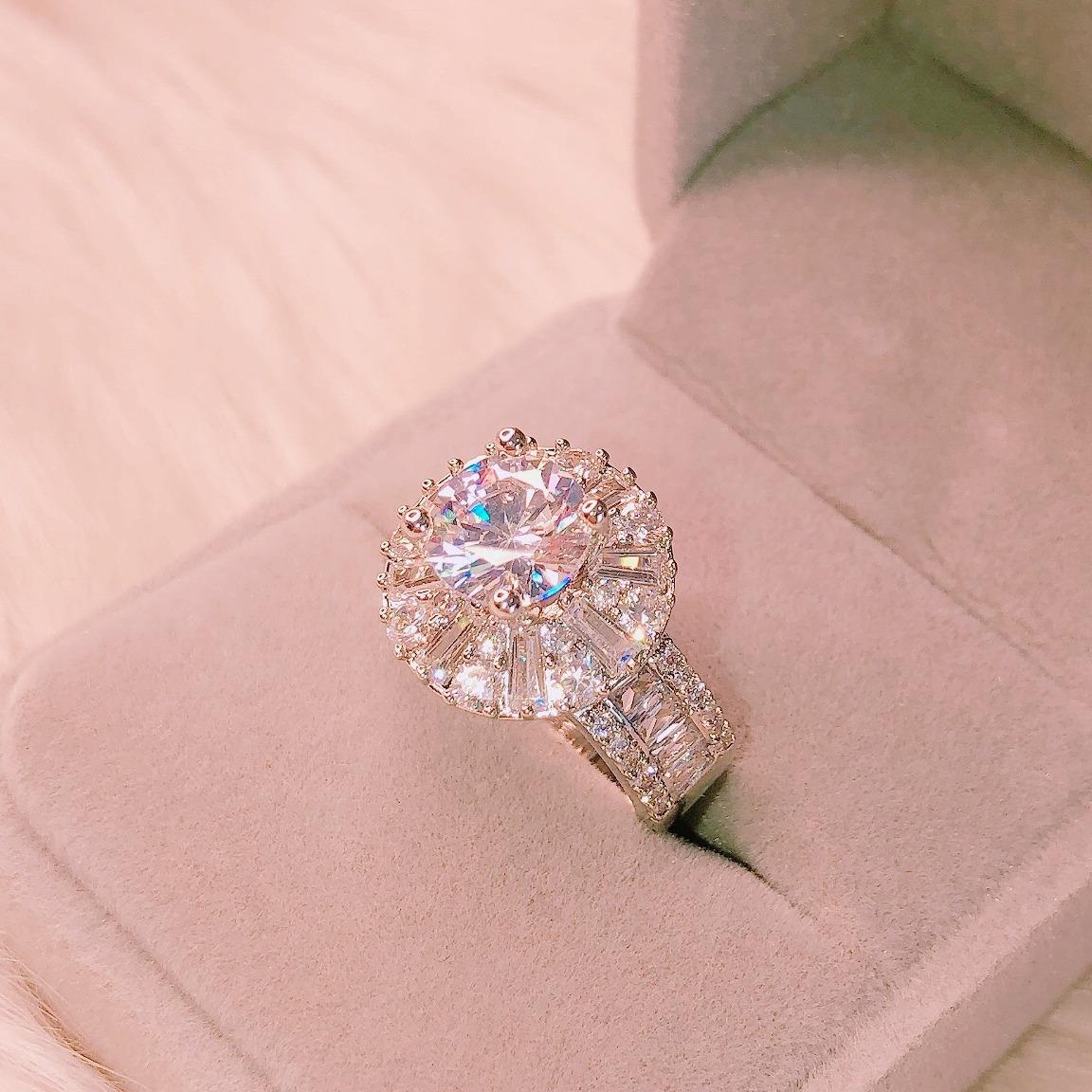 [HCM]Nhẫn bạch kim nữ nhẫn nữ đá pha lê kim tiền cao cấp thiết kế thời thượng sang chảnh Trang Sức Gami N118-đeo đi tiệc đi chơi đi đám cưới xinh xắn đáng yêu CAM KẾT KHÔNG ĐEN 1 ĐỔI 1 NẾU KHÔNG HÀI LÒNG