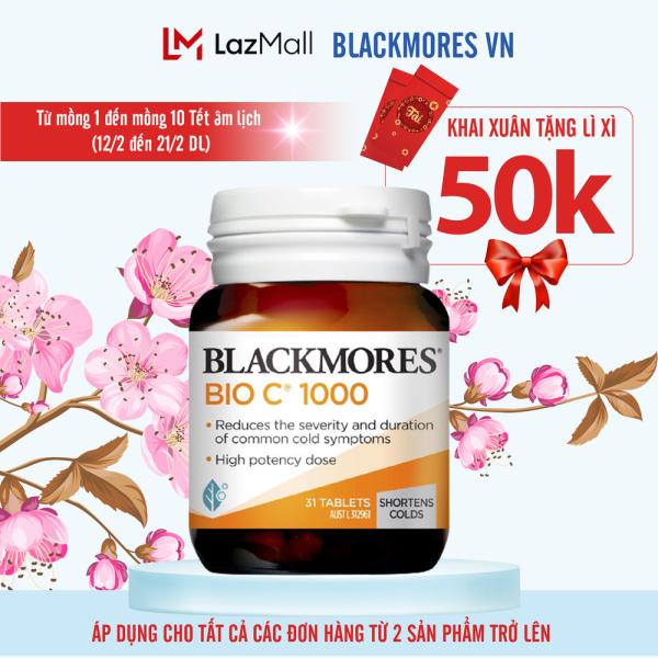 Blackmores Bio C 1000mg 31 vitamin c blackmore Úc viên uống bổ sung c tăng cường hệ miễn dịch cao cấp
