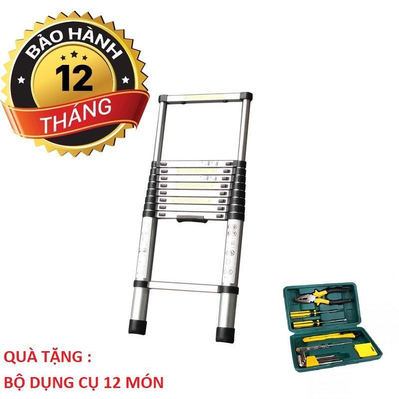 Thang nhôm rút Ladder Yokota loại 3.2m Tặng Bộ Dụng Cụ Sửa Chữa 12 Món