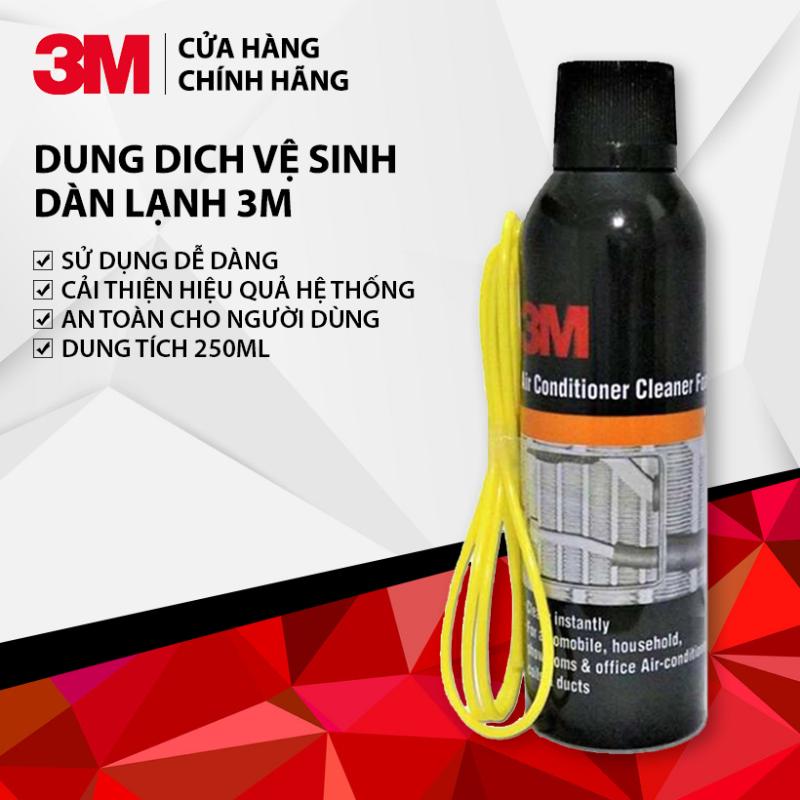 Dung Dich Vệ Sinh Dàn Lạnh Ô Tô 3M Air Conditioner Cleaner Foam 250ml Hàng Chính Hãng - Khử mùi, vệ sinh dàn lạnh lâu ngày (Dùng được cho máy điều hòa gia đình)