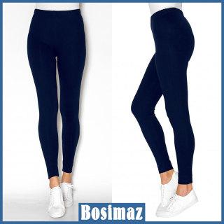 Quần Legging Nữ Bosimaz MS013 dài không túi màu xanh navy cao cấp, thun co giãn 4 chiều, vải đẹp dày, thoáng mát không xù lông. thumbnail