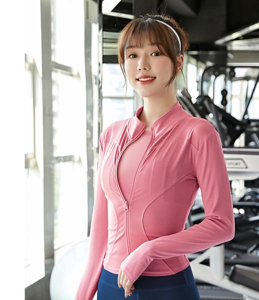 Áo Khoác Thun Tập Gym Yoga  Nữ Dài Tay Có Túi Đủ Màu Đen Xám Hồng Xanh Ngọc - Áo Co Giãn Tốt Thoáng Nhiệt Không Phai Màu | Hi Sport