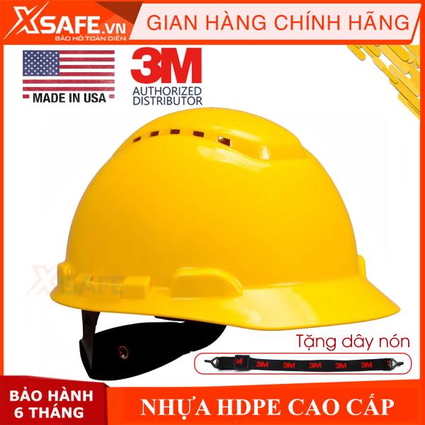 Mũ bảo hộ 3M H702V - Nón bảo hộ nhựa HDPE siêu cứng, khóa vặn, lỗ thông khí, dây nón co giãn, lồng nón 4 chấu điều chỉnh được độ cao [XSAFE] [XTOOL]