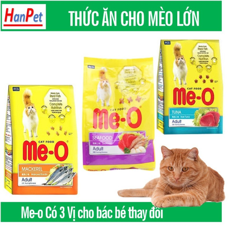 Me-o (chiết 1kg) hức ăn cho mèo hương vị cá ngừ, hải sản dành cho mèo mọi lứa tuổi- thức ăn mèo an toàn hàm lượng dinh dưỡng cao