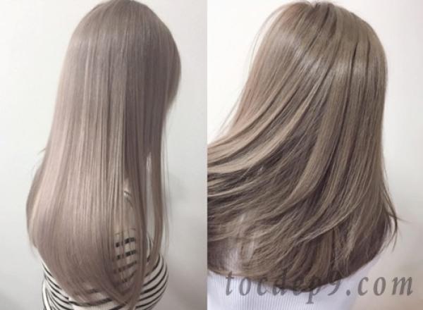 Tự nhuộm tóc màu Vàng tro tại nhà, hàng nội địa Việt Nam, không gây hư tổn cho tóc (Trọn bộ tặng gang tay, trợ nhuộm) giá rẻ