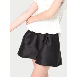 RECHIC Quần short Elisa màu đen có túi ống rộng xinh xắn trẻ trung thumbnail