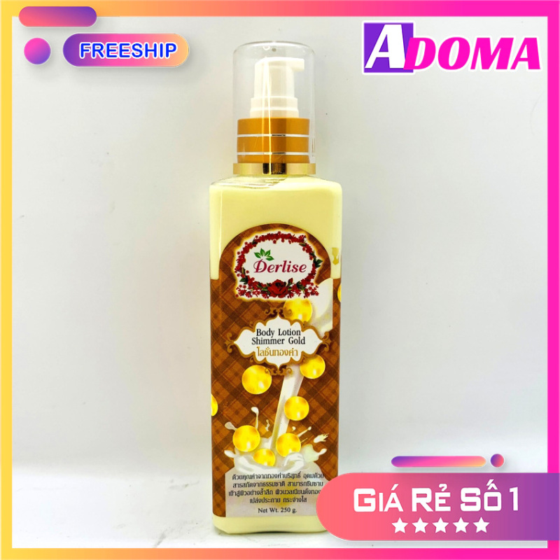 Kem Body ADOMA Sữa Dưỡng Thế Toàn Thân Chống Nắng Nhũ Derlise SPF50PA++ - Kem Body Chống Nắng Mềm Mịn Trắng Da Thái Lan An Toàn, Hiệu Quả