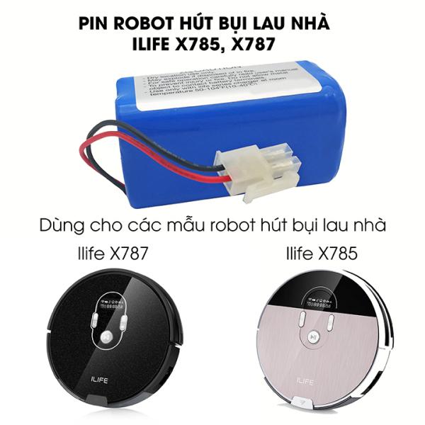 Pin robot hút bụi lau nhà Ilife X785, X787 bảo hành 3 tháng
