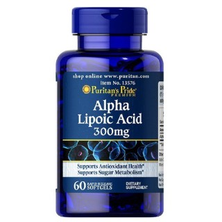 Viên uống chống lão hóa, trẻ hóa da, ngừa tàn nhang làm sáng da Puritan s Pride - Alpha lipoic acid 300mg 60v(04--2022 - Loai 120v ) thumbnail