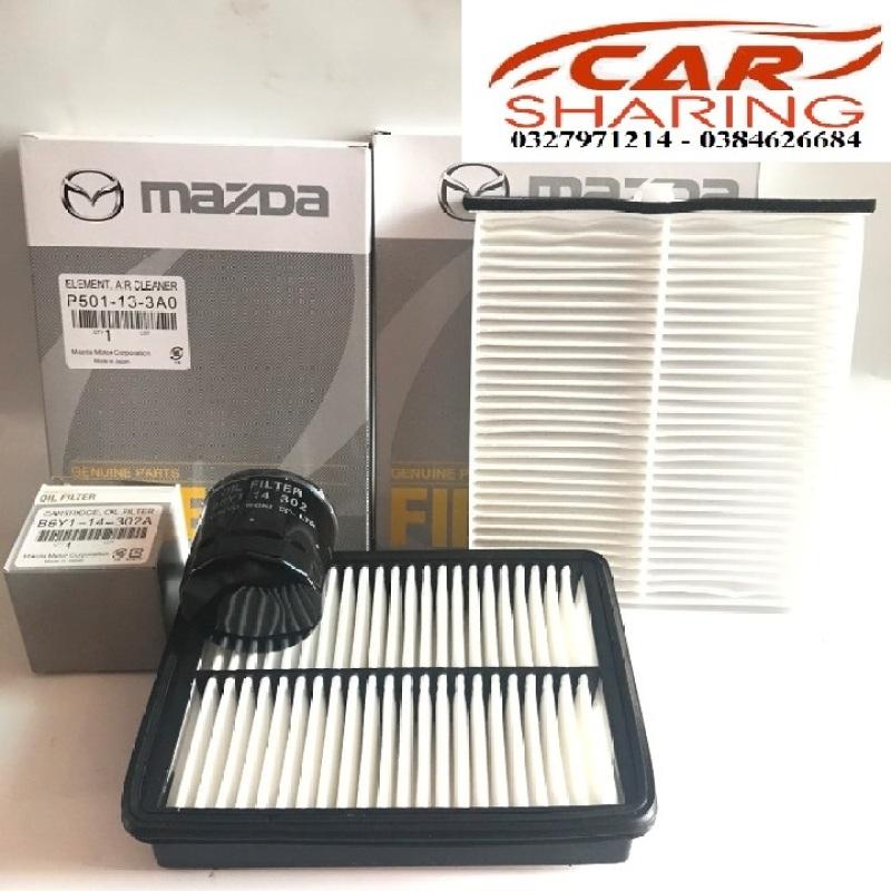 (Combo 3 món) Lọc gió động cơ , Lọc điều hòa , lọc nhớt , dùng cho xe MAZDA 2 ALLNEW 1.5
