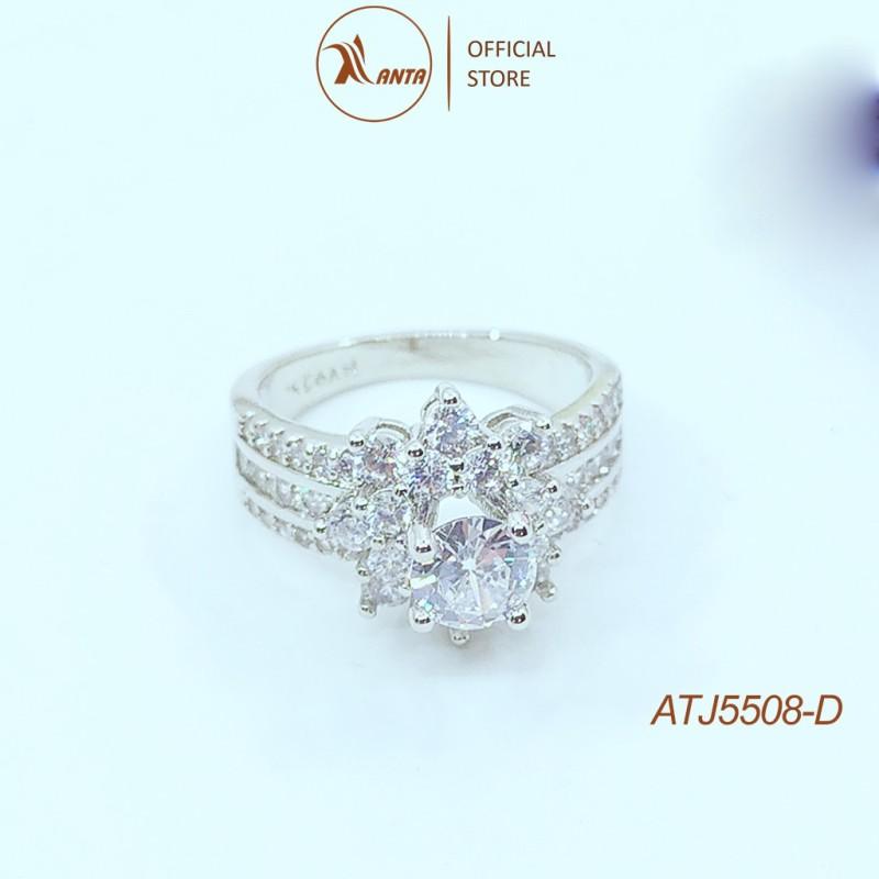 Nhẫn bạc Ý 925 đính kim cương nhân tạo đẳng cấp ANTA Jewlery ATJ5507-D