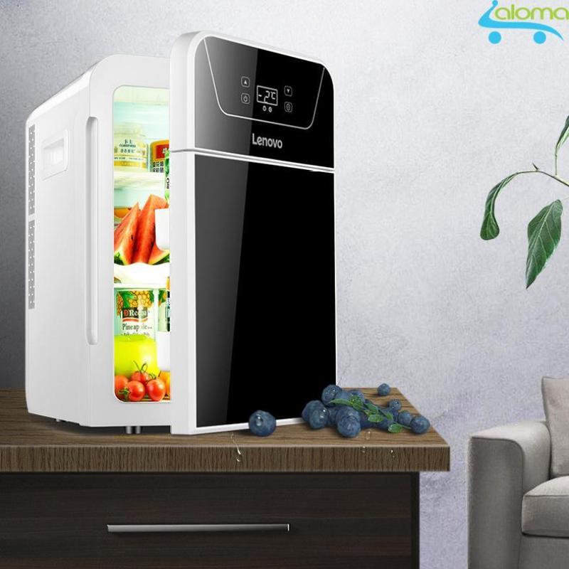 Tủ lạnh 2 ngăn làm lạnh hâm nóng 22 lít Lenovo LV-22L hiển thị nhiệt độ