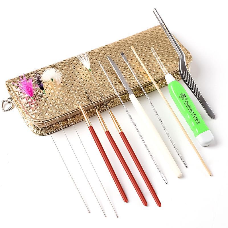 Bộ dụng cụ lấy ráy tai 12 món kiểu Trung Quốc có túi đựng tốt nhất