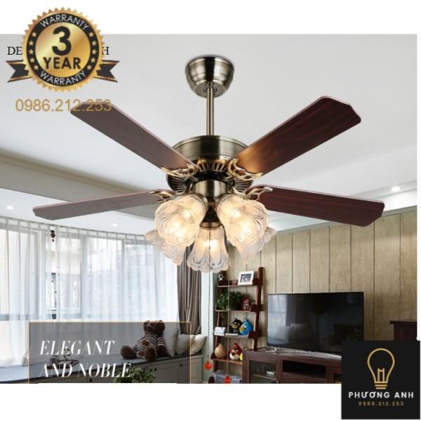 Bảng giá Đèn Quạt trần trang trí nội ngoại thất mã 321 - Đèn Trang Trí Phương Anh