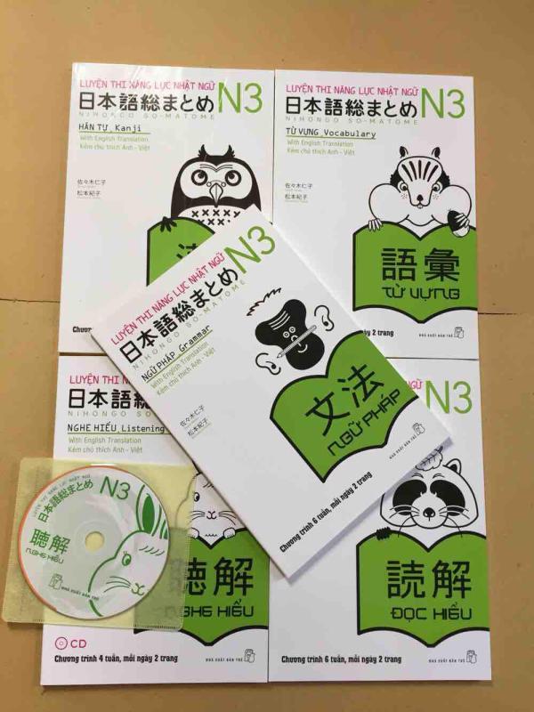 Mua Trọn bộ somatome N3 bản tiếng việt 5 cuốn