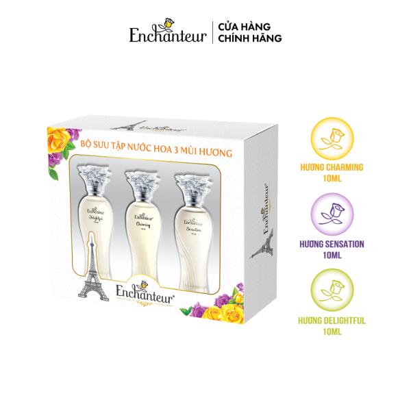 Bộ Sưu tập nước hoa 3 mùi hương Enchanteur Charming, Sensation, Delightful 10ml/ Chai cao cấp