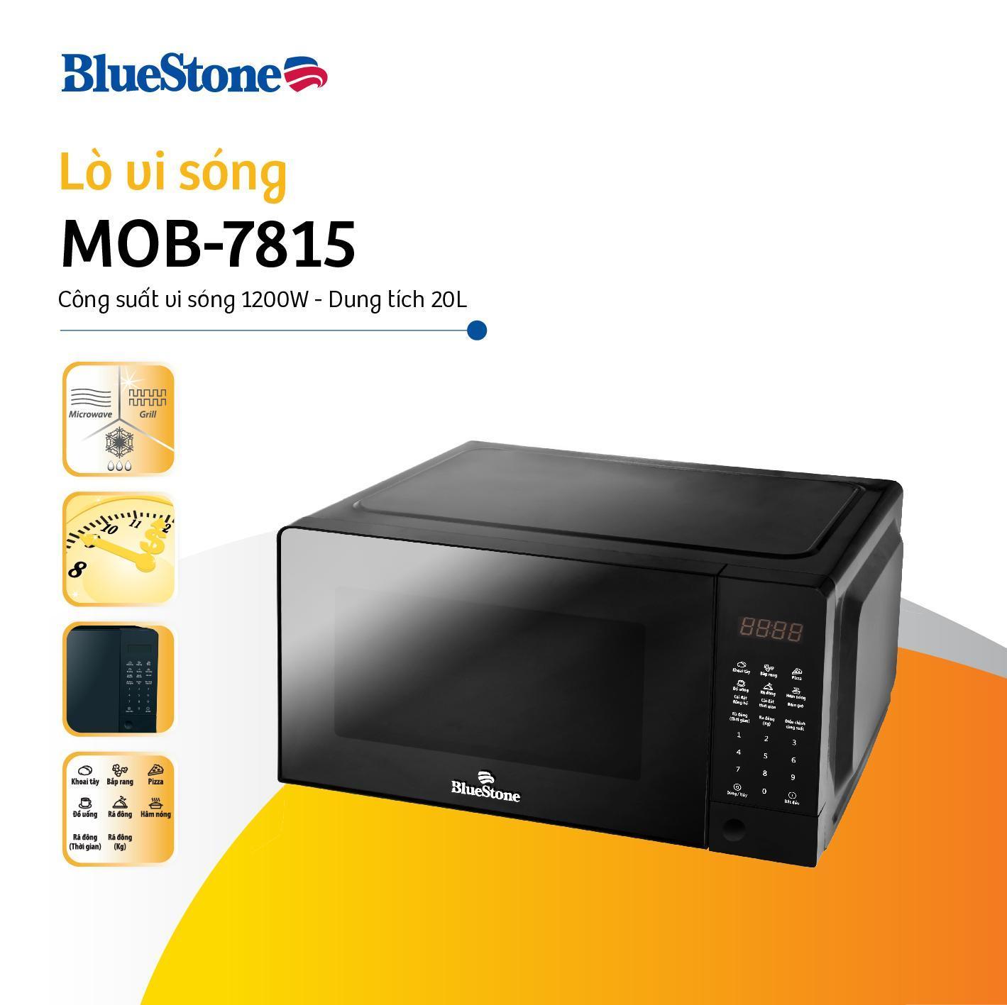 Lò vi sóng điện tử Bluestone MOB-7815 - 20L - Công suất 1200W - Bảo hành 2 năm - Hàng chính hãng