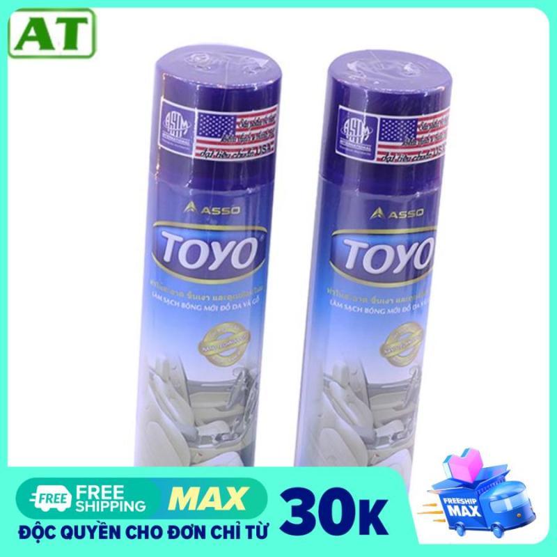 Bình Xịt Đánh Bóng Đồ Da Nhựa Gỗ Và Nội Thất Xe Ô Tô Toyo 500ml