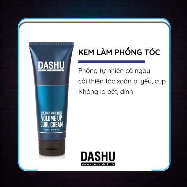 Kem làm phồng cho tóc xoăn Dashu daily volume up curl cream 150ml
