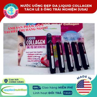 Collagen ống dạng nước Liquid Collagen Easy-to-take Drink Mix 4000mg (5 ống tách trải nghiệm) [tăng cường độ ẩm cải thiện sắc tố của da kiểm soát cân nặng săn chắc cơ thể] Hàng MỸ (được bán bởi Siêu Thị Hàng Ngoại) thumbnail