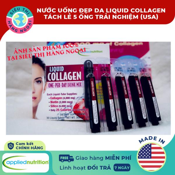 Collagen ống dạng nước Liquid Collagen Easy-to-take Drink Mix 4000mg (5 ống tách trải nghiệm) [tăng cường độ ẩm; cải thiện sắc tố của da; kiểm soát cân nặng; săn chắc cơ thể] Hàng MỸ (được bán bởi Siêu Thị Hàng Ngoại)