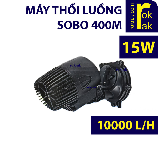 Máy thổi luồng, tạo sóng 1 đầu SOBO WP-400M 15W cho hồ cá