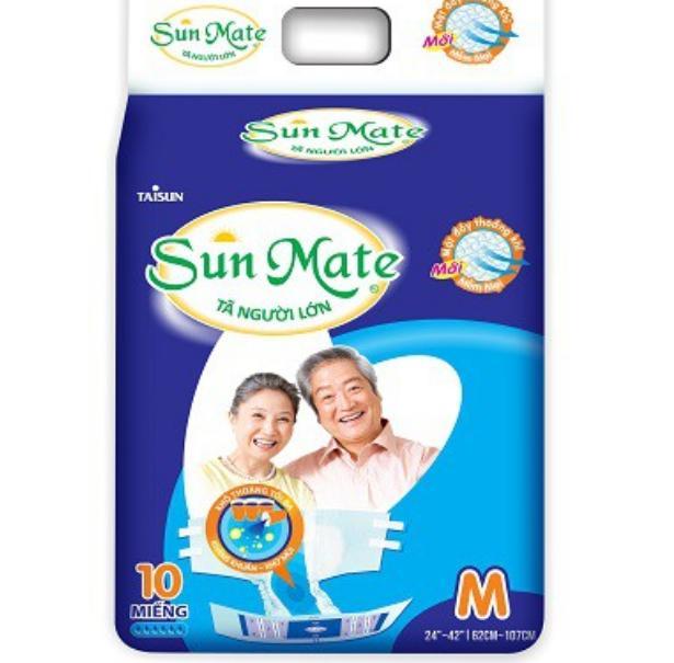 Combo 2 gói Tã người lớn Sunmate size M10 cho vòng bụng 62 đến 107 cm