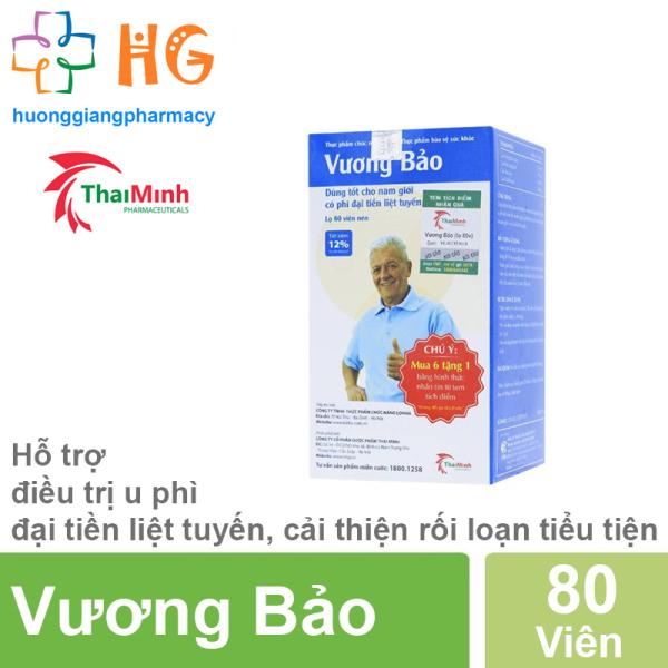 Vương Bảo (Lọ 80 viên) - Hỗ trợ làm giảm tiểu đêm, tiểu buốt, tiểu rắt, tiểu không hết, tiểu nhiều lần