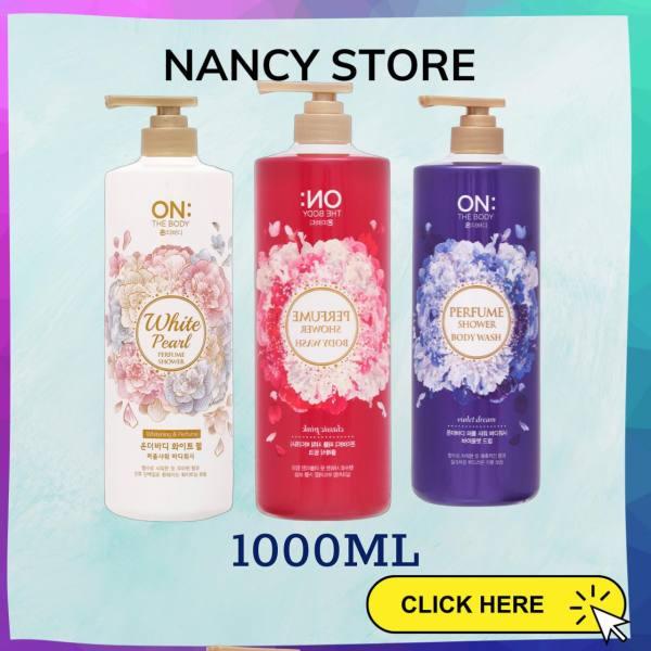 [1000ml] - Sữa tắm hương nước hoa On: The Body Perfume 2021 - thương hiệu Hàn Quốc - 3 mùi hương Classic Pink - Violet dream - White Pearl - Chai Siêu to, siêu rẻ