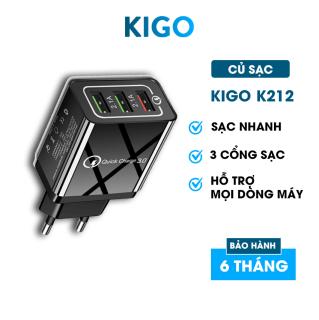 Củ sạc nhanh Piman chuẩn Quick Charge 3.0 18W - Củ sạc tích hợp mọi loại thiết bị và điện thoại KIGO P212 thumbnail