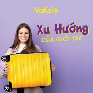 Vali kéo du lịch Valizio 209 nhựa ABS vân sần chống xước tay kéo hợp kim nhôm bánh xe xoay 360 độ thumbnail