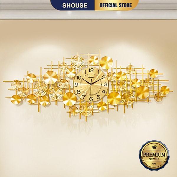 Nơi bán Đồng Hồ Treo Tường Kim Trôi Quartz Shouse DL116 Nghệ Thuật Cao Cấp hiện đại 3D kích cỡ lớn đẹp treo phòng khách