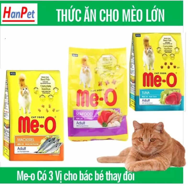 HP-Combo 5 gói ME-O 350gr - thức ăn dạng hạt cho mèo lớn vị CÁ NGỪ - HẢI SẢN (hanpet 201c)