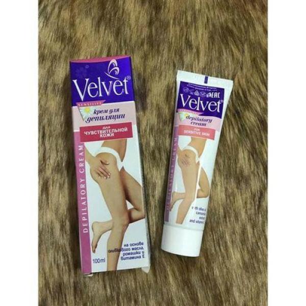 Kem tẩy lông tay, lông chân, lông nách, ria mép, vùng bikini Velvet dầu oliu và hoa cúc Làng Da Khỏe Đẹp cao cấp