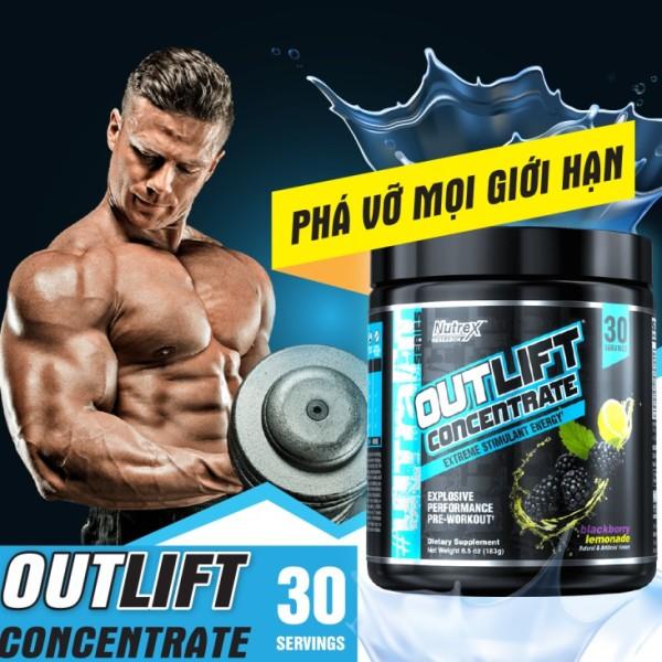 Nutrex Outlift Concentrate Pre Workout 30 Lần Dùng- Tăng Sức Mạnh Trước Tập - Chính Hãng - Muscle Fitness