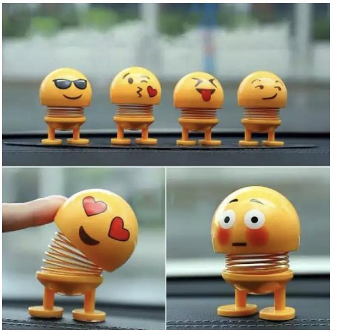 COMBO 6 Thú Nhún Emojji con lắc lò xo - Siêu Chất - Siêu Vui Emoji